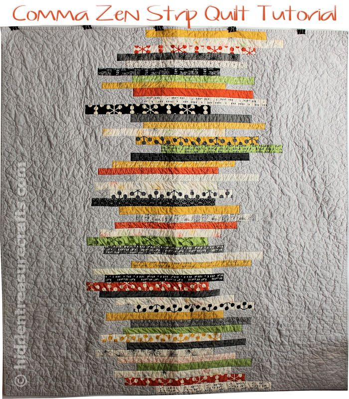 Quilt Patterns Using Strips Of Fabric : Comma Zen Strip Quilt