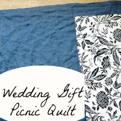 Wedding Gift Picnic Quilt