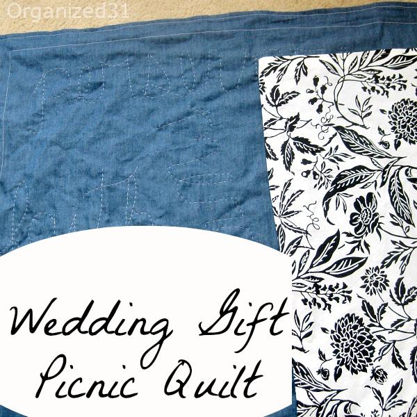 Wedding Gift Picnic Quilt