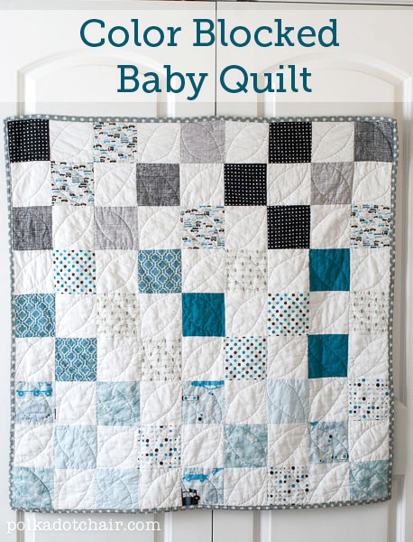 Color Blocked Baby Quilt - Polkadot Chair