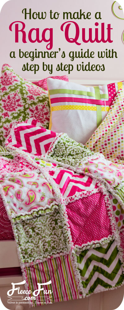 Easy Rag Quilt Tutorial on Fleece Fun dot com