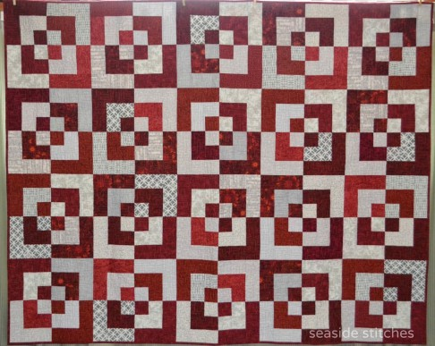 Garnet and Gray quilt from Seaside Stitches