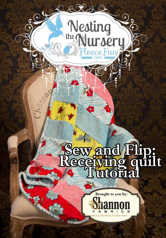 Sew and Flip Recieving Blanket from Fleece Fun dot com